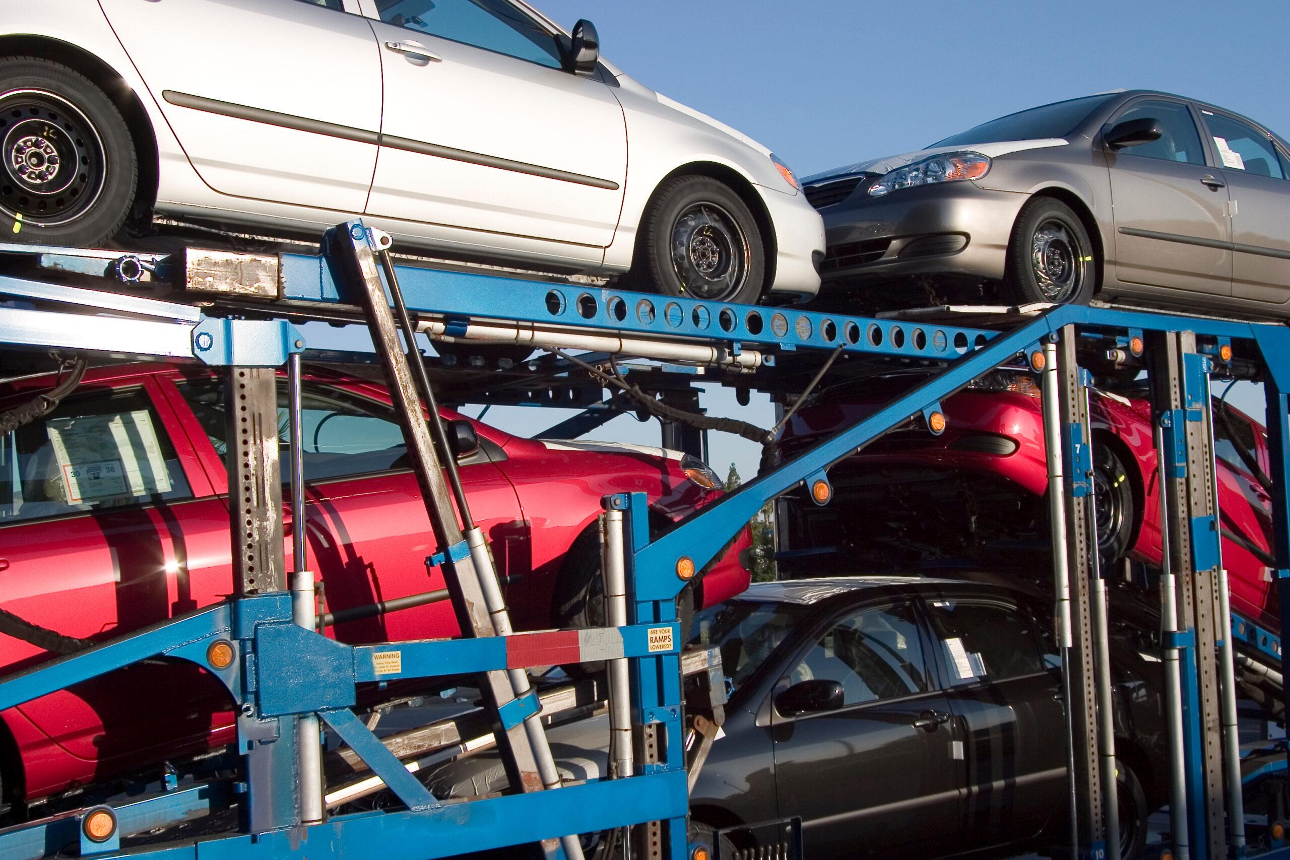 auto's op transport uit Duitsland